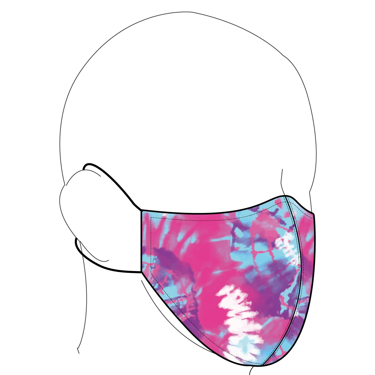 Tie Dye Champion System Reusable Face Mask